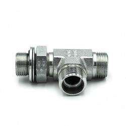 Niplu - Adaptor hidraulic tip T METRIC - GAZ orientabil mijloc - 6029