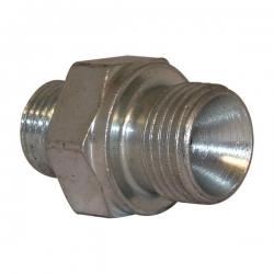 Niplu - Adaptor hidraulic drept METRIC - GAZ corp L - 6003