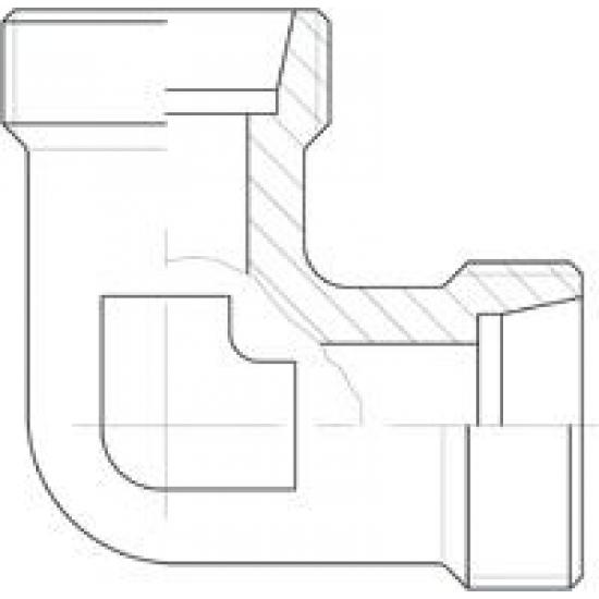 Niplu - Adaptor hidraulic tip cot 90° METRIC - METRIC corp L - 6042