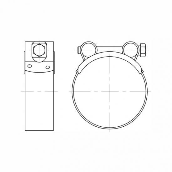 Colier SUPER CLAMP - 5567