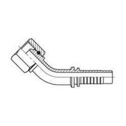 Fiting hidraulic tip cot 45 °GAZ - mamă - 4204