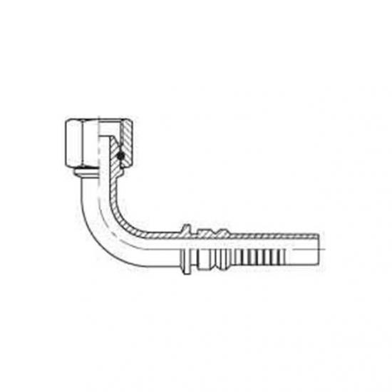 Fiting hidraulic Interlock tip cot 90 ° GAZ - mamă - 4403