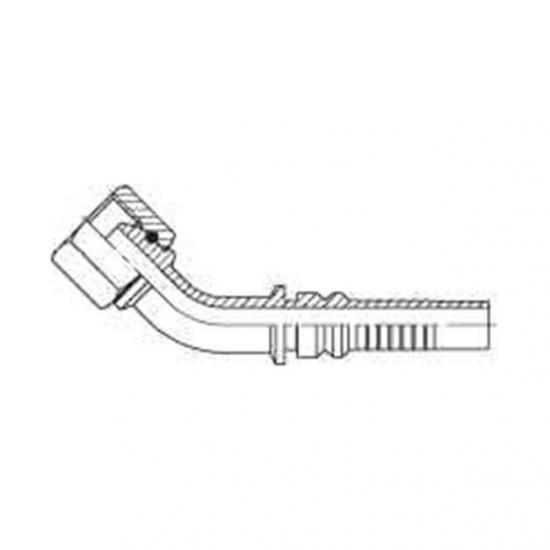 Fiting hidraulic Interlock tip cot 45 ° GAZ - mamă - 4404
