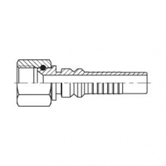 Fiting hidraulic INTERLOCK drept mama - JIC -  4413