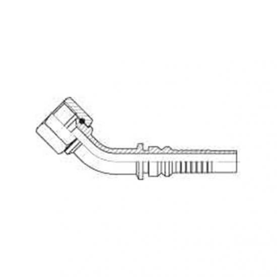 Fiting hidraulic Interlock tip cot 45° JIC - mamă - 4417